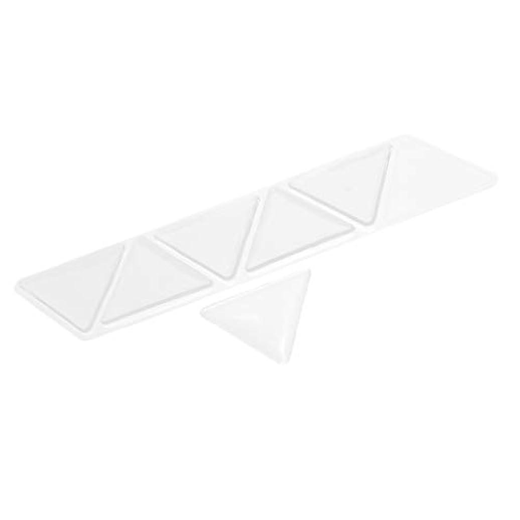 ストライプ金額反逆者額パッド スキンケアパッド アンチリンクル シリコン 三角パッド 再使用可能な