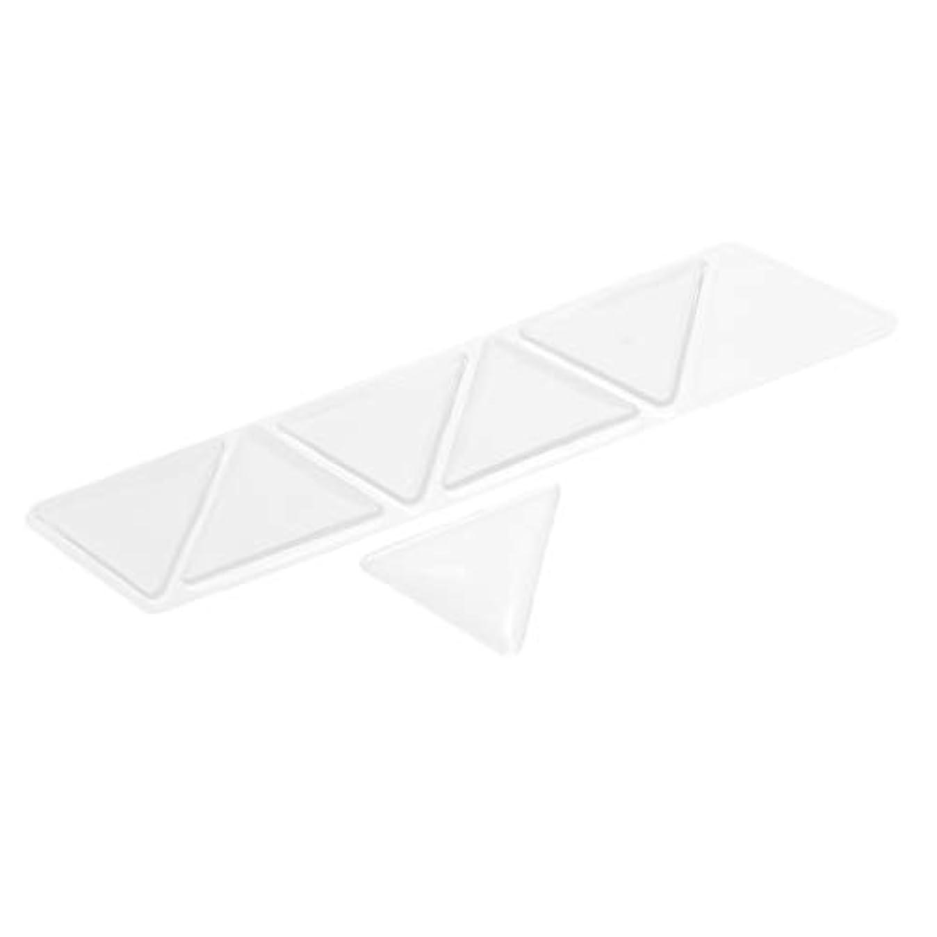 シャベル懐疑的抽選Baoblaze 額パッド スキンケアパッド アンチリンクル シリコン 三角パッド 再使用可能な