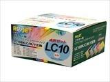 リサイクルインク BROTHER ブラザー LC10-4PK お徳用4色パック(ブラック/シアン / マゼンタ/イエロー) 純国産ブランド ReJet/リ・ジェット