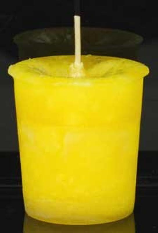 家庭教師ブロックライン黄色でAzureGreen CVHPOSポジティブなエネルギーハーブ奉納キャンドル
