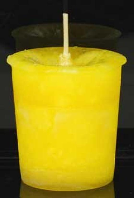 小麦メンテナンス引き算黄色でAzureGreen CVHPOSポジティブなエネルギーハーブ奉納キャンドル