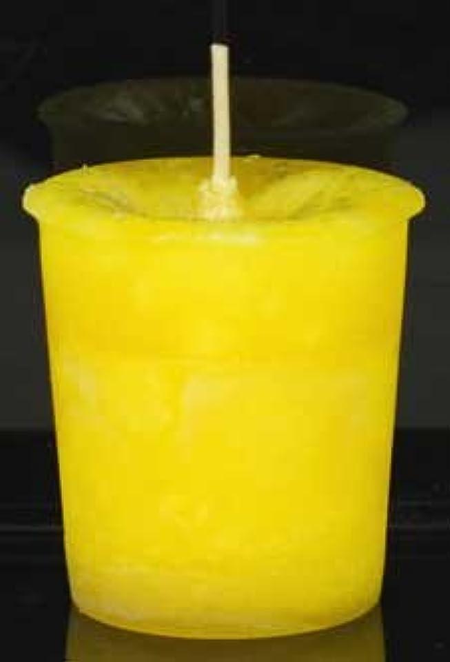 最愛の十一風邪をひく黄色でAzureGreen CVHPOSポジティブなエネルギーハーブ奉納キャンドル