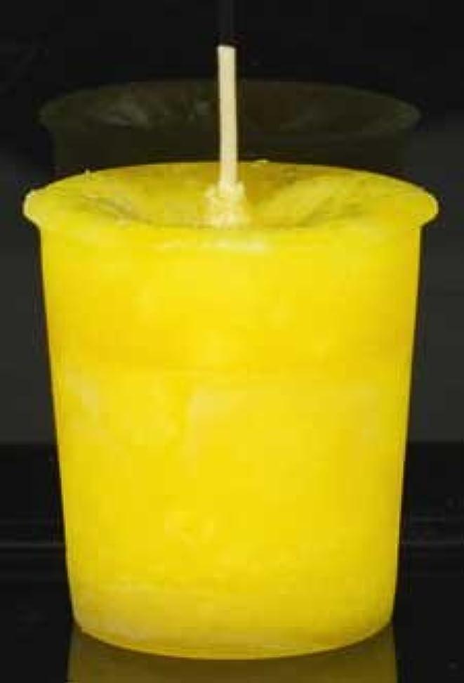 カーペット排気受取人黄色でAzureGreen CVHPOSポジティブなエネルギーハーブ奉納キャンドル