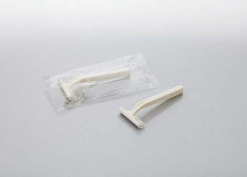 時間農業帽子カミソリ アメニティシーガル2 固定式2枚刃 1800本 透明OP袋入 daito