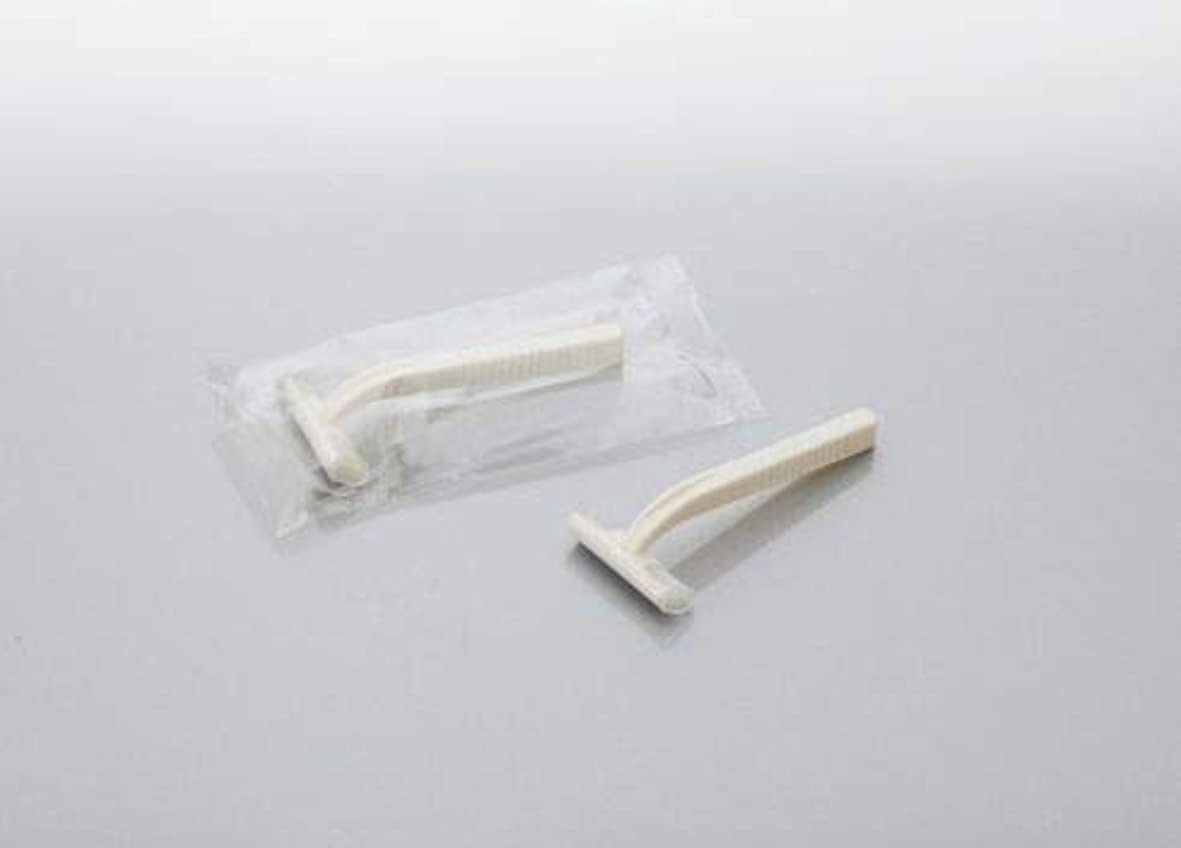 ナインへ先生嬉しいですカミソリ アメニティシーガル2 固定式2枚刃 1800本 透明OP袋入 daito