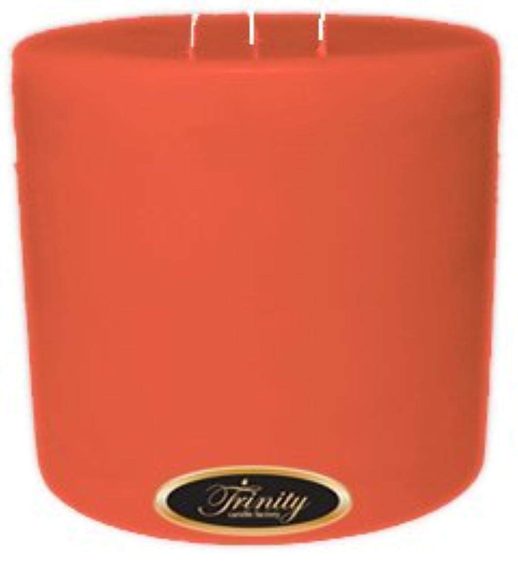 真面目な変形砲兵Trinity Candle工場 – ジョージアピーチ – Pillar Candle – 6 x 6