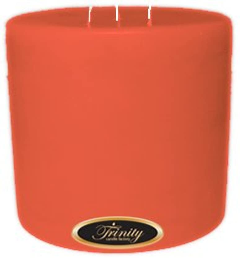 無人悲劇食い違いTrinity Candle工場 – ジョージアピーチ – Pillar Candle – 6 x 6