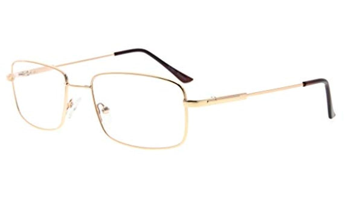 バンド改修する磁器アイキーパー(Eyekepper)メモリー性質伊達メガネ 眼鏡枠 スクエア型 軽量 シリコーン鼻パッド メガネずり落ち防止 曲げられるチタン素材フレーム メンズ&レーディス ケース&クロス付き