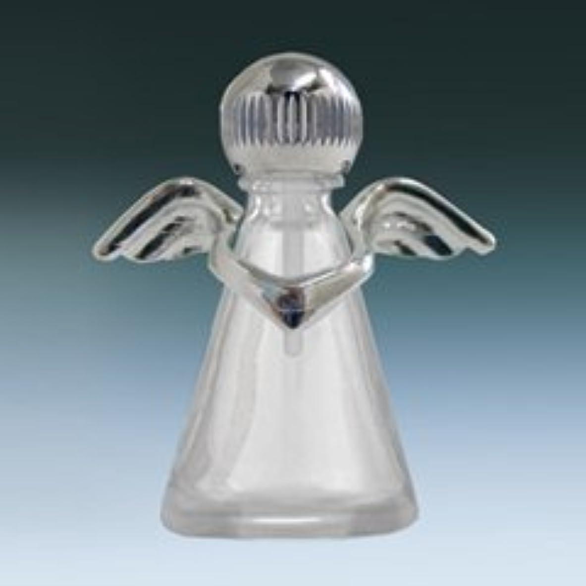 【ヤマダアトマイザー】パフュームボトル 小ビン 10675 天使 クリア シルバー 約2.5ml
