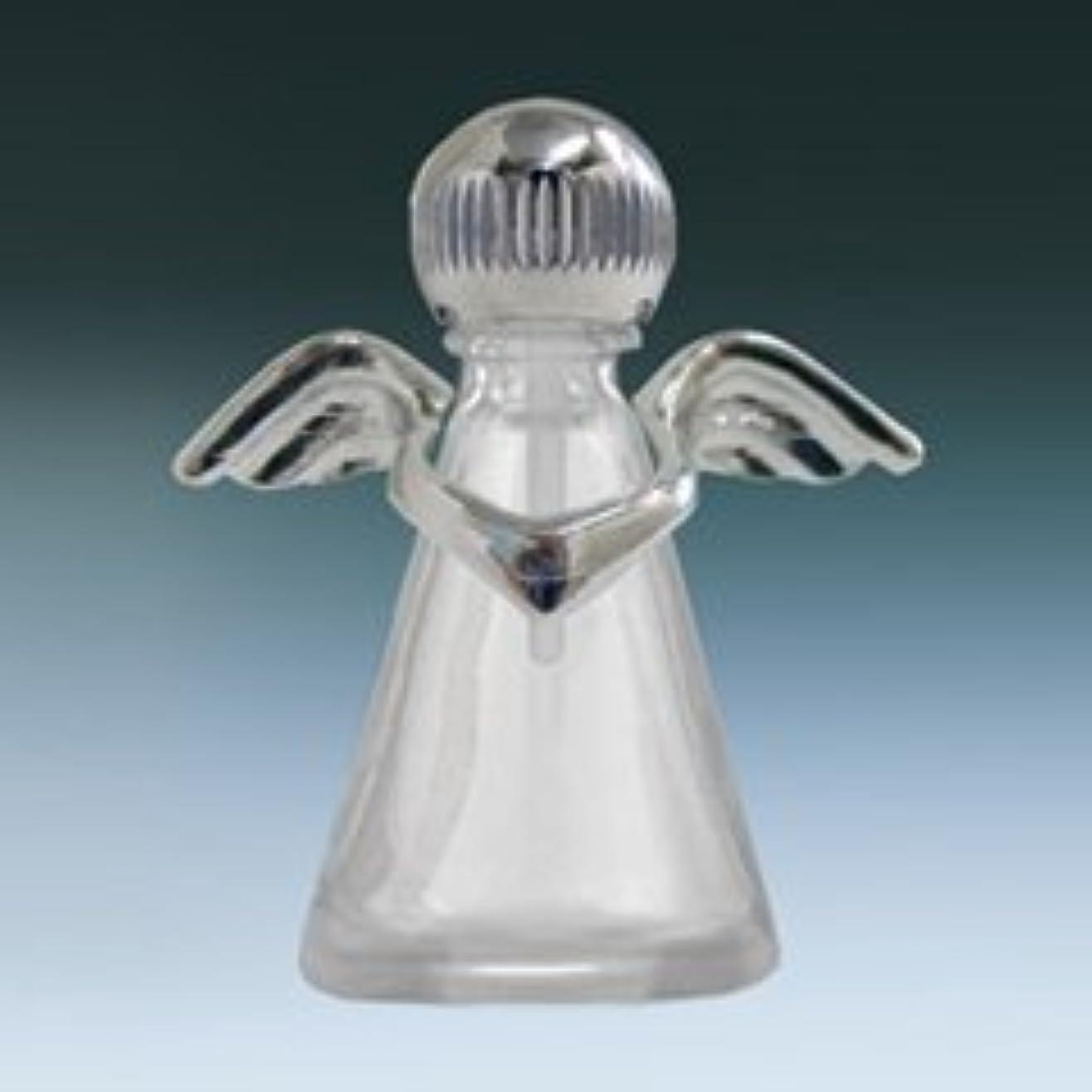 既婚逆さまにあなたのもの【ヤマダアトマイザー】パフュームボトル 小ビン 10675 天使 クリア シルバー 約2.5ml