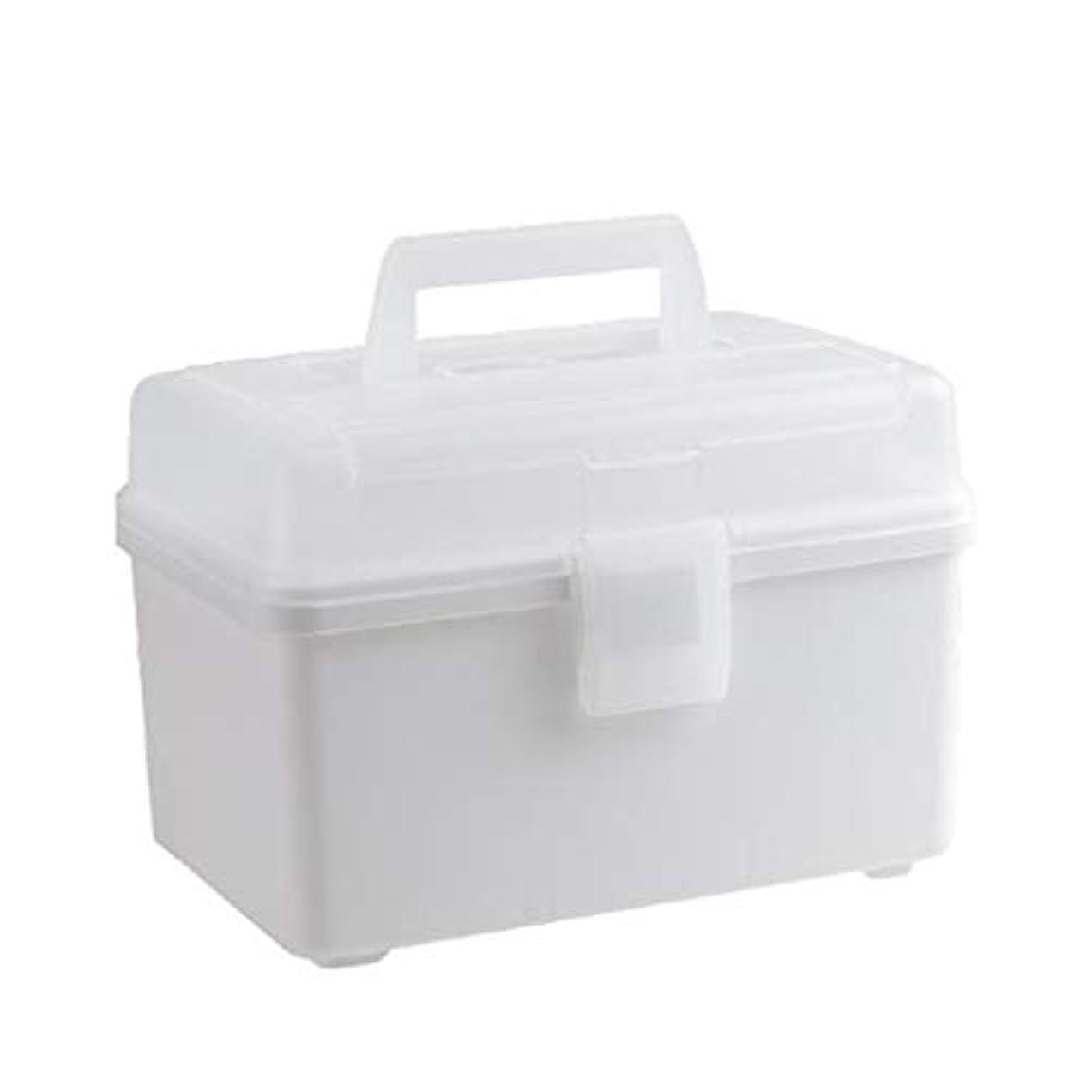 疎外八百屋さん名門大容量薬箱家庭用ポータブル小薬箱薬収納ボックスクリエイティブコンパートメント多層薬収納ボックス 薬箱 (Color : White)