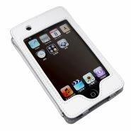ラディウス iPod touch用本革スタンドレザーケース radJacket ホワイト RA-LS411W