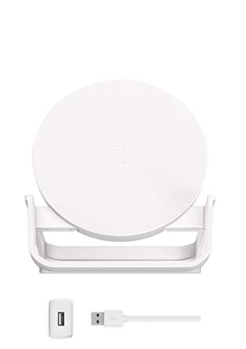 【Amazon.co.jp 限定】ベルキン ワイヤレス充電器 ACアダプター付き iPhone 8 / 8Plus / X/XR/XS/XS Max/Samsung Galaxy/LG 対応 Qi認証 5W 7.5W 10W 出力 スタンドタイプ BOOST UP ホワイト F7U083JCWHT-A