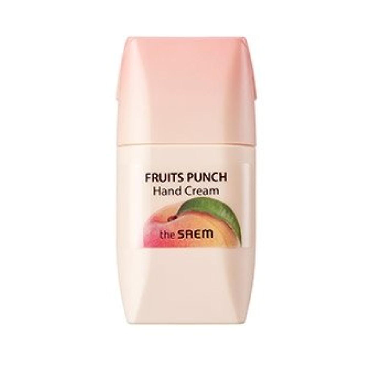 系統的うつ舗装するthe SAEM Fruits Punch Hand Cream 50ml/ザセム フルーツ ポンチ ハンドクリーム 50ml (#Peach) [並行輸入品]