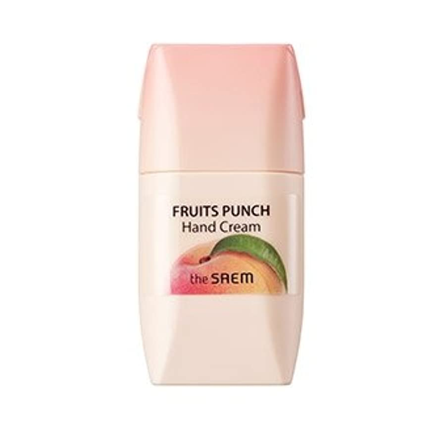 出口関連する田舎the SAEM Fruits Punch Hand Cream 50ml/ザセム フルーツ ポンチ ハンドクリーム 50ml (#Peach) [並行輸入品]