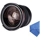 魚眼レンズ デジカメ 58MM 0.35X フィッシュアイ/魚眼レンズ マクロレンズ スーパーフィッシュアイ Canon Nikon Petax Sonyなどデジタル一眼レフカメラ用+クリーニングクロス