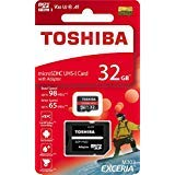 東芝 Micro SDカードメモリーカード 32GB EXCERIA M303 SDアダプター付き microSDXC UHS-I U3 カード 4K Class10 V30 A1 microSD 読み取り 98MB/s 書き込み 65MB/s (THN-M303R0640A2)