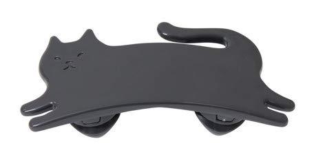 マーナ(Marna) デザイン小物 ブラック 4.2×9.4×2.7cm ネコ ほぐストラップ
