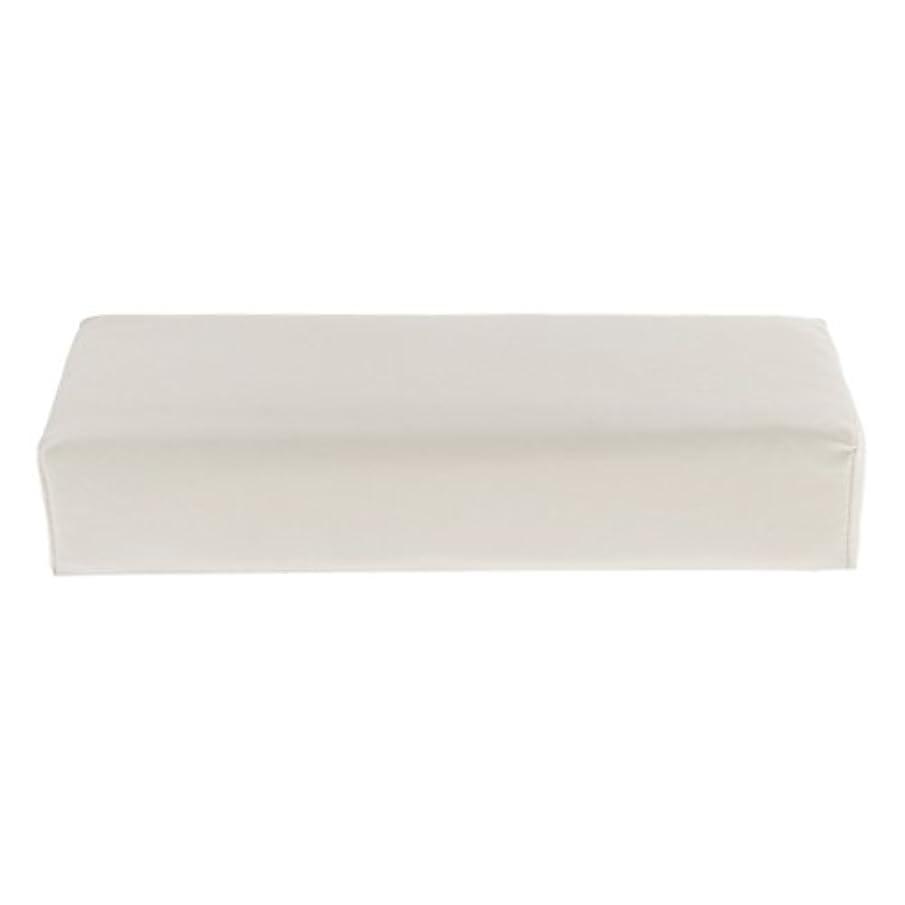 ハンドピロー ソフト ハンドホルダー クッション ピロー マット ネイル アームタオルレスト マニキュアツール 多色選べる - 白
