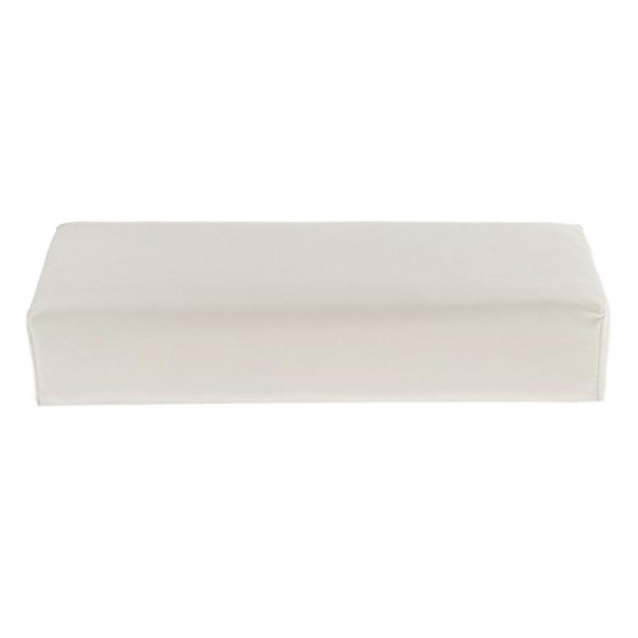 あたたかいモバイル食事Kesoto ハンドピロー ソフト ハンドホルダー クッション ピロー マット ネイル アームタオルレスト マニキュアツール 多色選べる - 白