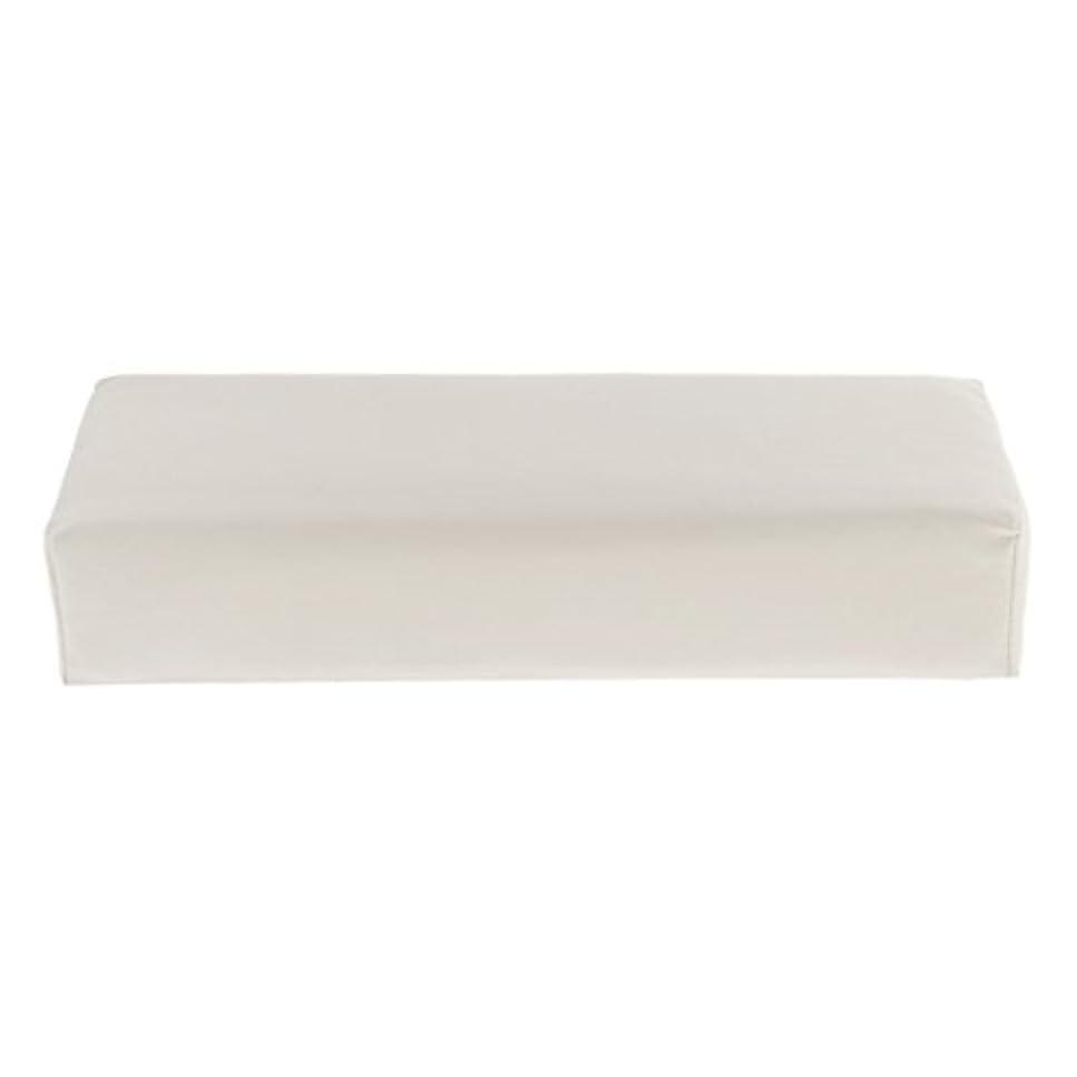 飾るキネマティクス前方へKesoto ハンドピロー ソフト ハンドホルダー クッション ピロー マット ネイル アームタオルレスト マニキュアツール 多色選べる - 白