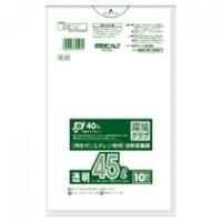 日本サニパック 環境クラブ 分別収集袋 透明 45L 1パック(10枚)