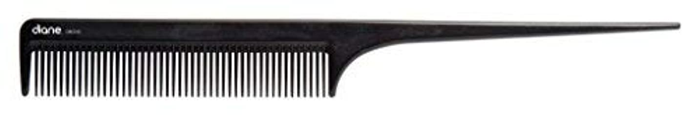 二スリンク横たわるDiane Ionic DBC043 Anti-Static Rat Tail Comb, Black [並行輸入品]