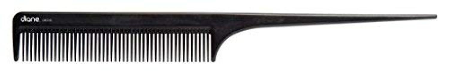 方向ますますノートDiane Ionic DBC043 Anti-Static Rat Tail Comb, Black [並行輸入品]