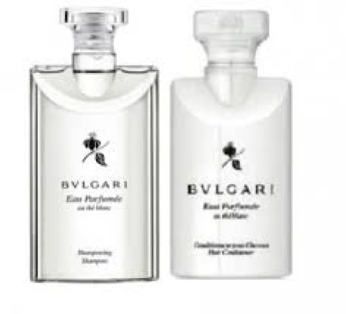 がっかりする苦悩検査Bvlgari Eau Parfumee Au The Blanc (ブルガリ オー パフュ-メ オウ ブラン) 2.5 oz (75ml) シャンプー & ヘアーコンディショナー