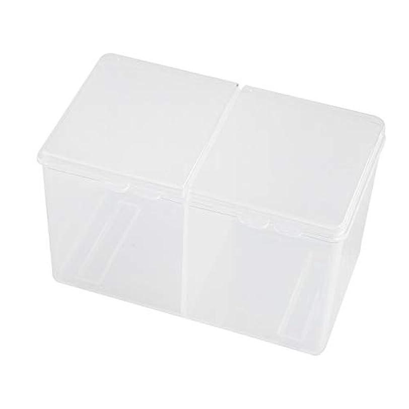 モッキンバード無人できないTOOGOO クリア綿棒オーガナイザーホルダー綿パッド収納ボックス透明リムーバー紙化粧デスクトップツールジュエリーケースコンテナ、ホワイト