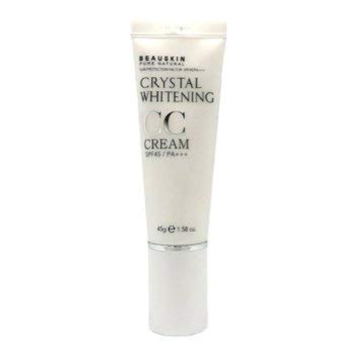 ペチュランス発動機歯痛Beauskin Pure Natural クリスタルホワイトニングCcクリームSPF 40 Pa +++ 45G 1.58Oz [並行輸入品]