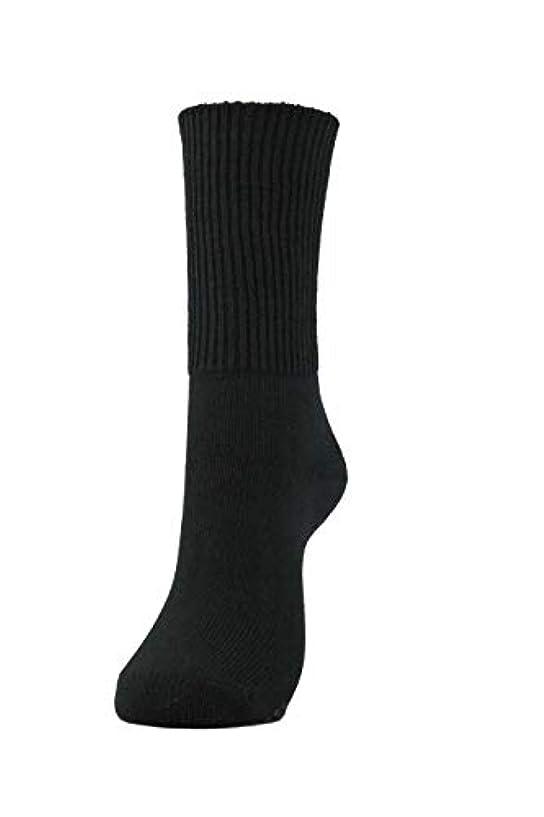 脚一見ビジュアル岩盤浴くつ下(厚地)男女兼用 保温性抜群 (黒) 600-1