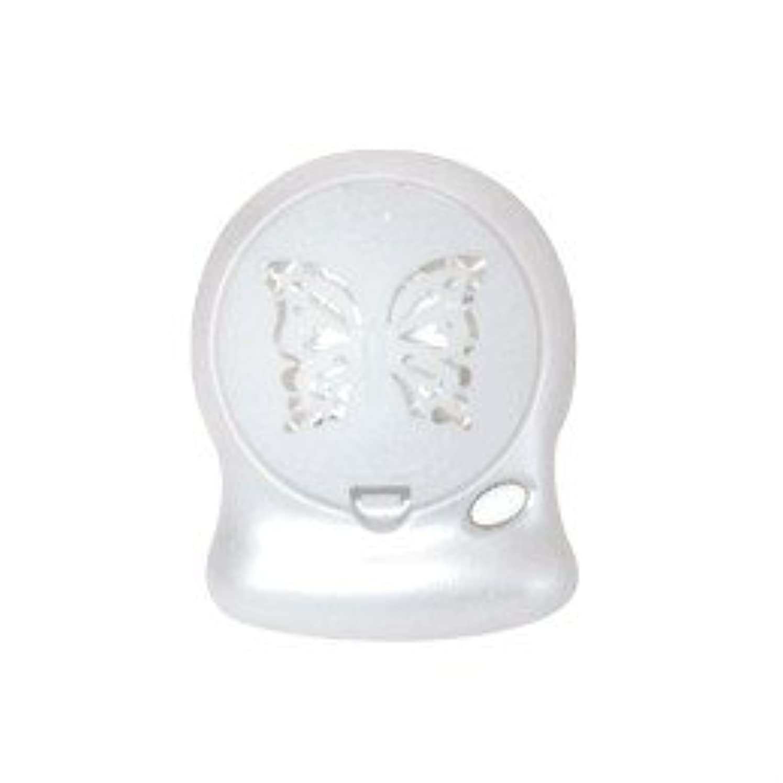 うがい観点サッカーアロマブリーズ Nova Jill (蝶柄) ホワイト モバイルファン式芳香器
