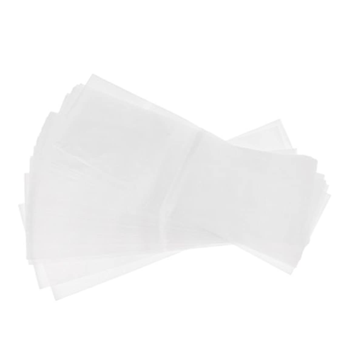 単位人質自動的にPerfk 約50枚 プラスチック製 染毛紙 ハイライトシート サロン ヘア染めツール 再利用可能  髪染め 2タイプ選べ - ホワイト