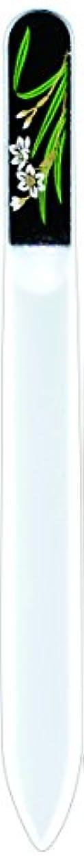 抑制する解き明かすディプロマ橋本漆芸 ブラジェク製高級爪ヤスリ 一月 水仙 紙箱