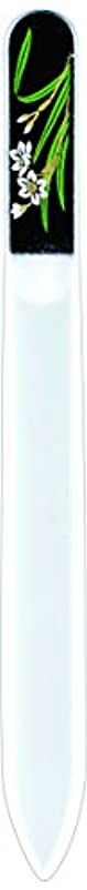 設計非効率的な火橋本漆芸 ブラジェク製高級爪ヤスリ 一月 水仙 紙箱