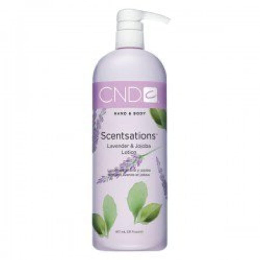 否認する悪意怒りCND Scentsations Lavender & Jojoba Hand & Body Lotion - 33oz by Creative Nail [並行輸入品]