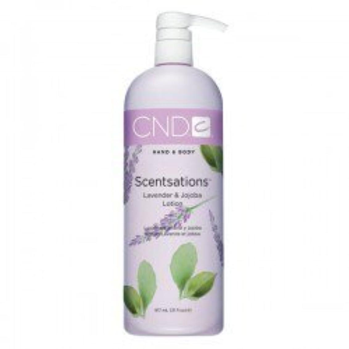 ウナギ休戦表面CND Scentsations Lavender & Jojoba Hand & Body Lotion - 33oz by Creative Nail [並行輸入品]