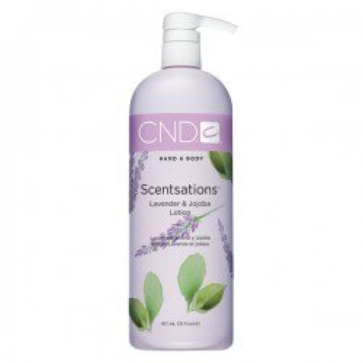 休日に不利益リスナーCND Scentsations Lavender & Jojoba Hand & Body Lotion - 33oz by Creative Nail [並行輸入品]