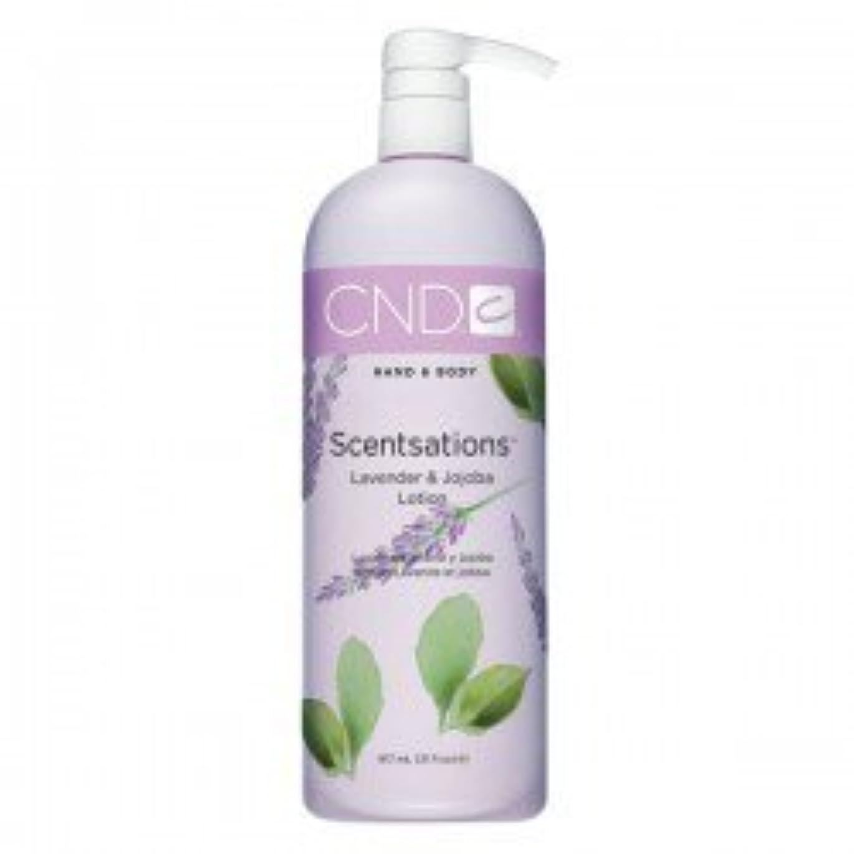 言語学緯度管理するCND Scentsations Lavender & Jojoba Hand & Body Lotion - 33oz by Creative Nail [並行輸入品]