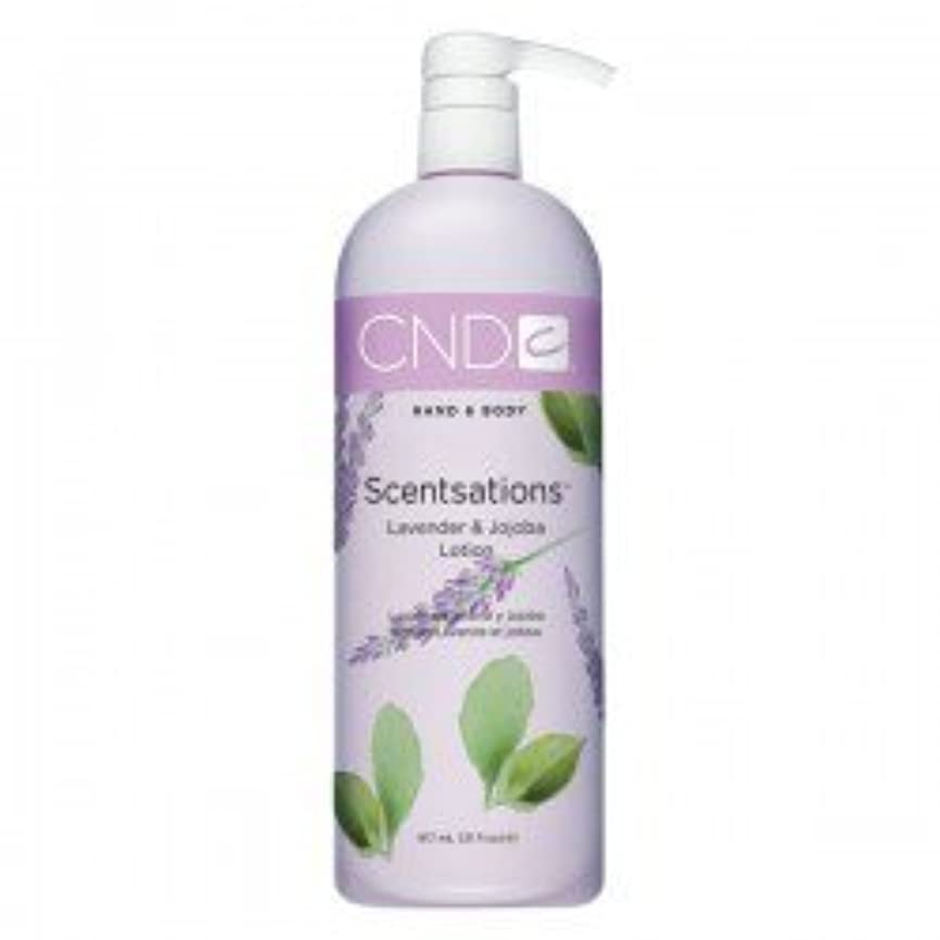 従う下にトロリーCND Scentsations Lavender & Jojoba Hand & Body Lotion - 33oz by Creative Nail [並行輸入品]