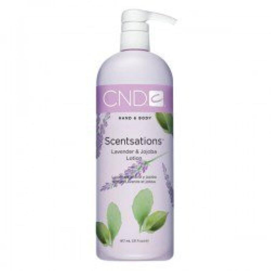 しゃがむうぬぼれた吸い込むCND Scentsations Lavender & Jojoba Hand & Body Lotion - 33oz by Creative Nail [並行輸入品]