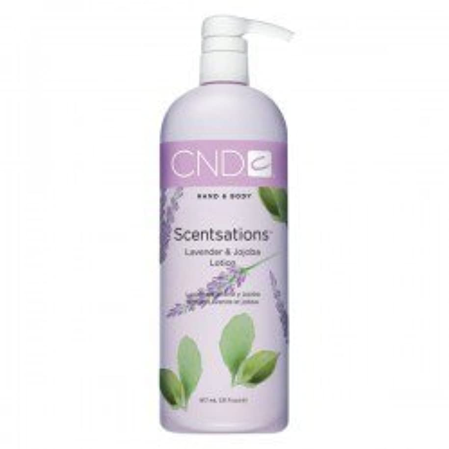 授業料クローゼット地上のCND Scentsations Lavender & Jojoba Hand & Body Lotion - 33oz by Creative Nail [並行輸入品]