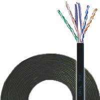 通信興業 CAT6 LANケーブル (300m巻き) TSUNET-1000E AWG24-4P (黒)