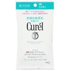 【花王】キュレル 薬用スキンケアシート (10枚) ×5個セット