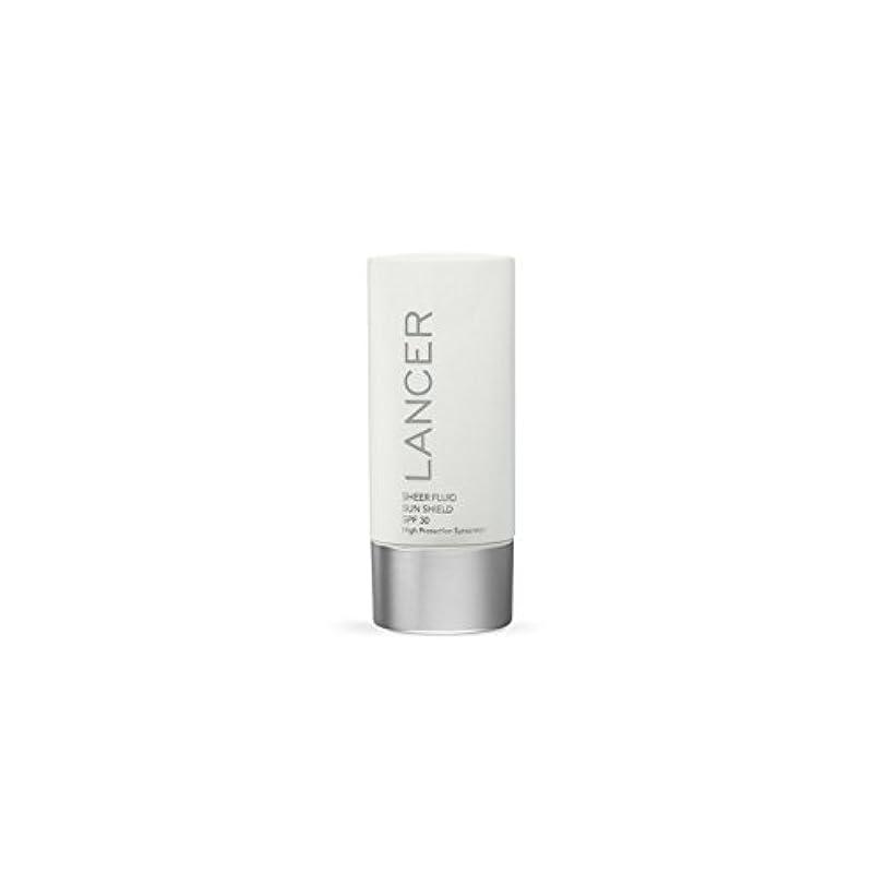 別に疲れた保護Lancer Skincare Sheer Fluid Sun Shield Spf 30 (60ml) (Pack of 6) - ランサースキンケア切り立った流体サンシールド 30(60ミリリットル) x6 [並行輸入品]
