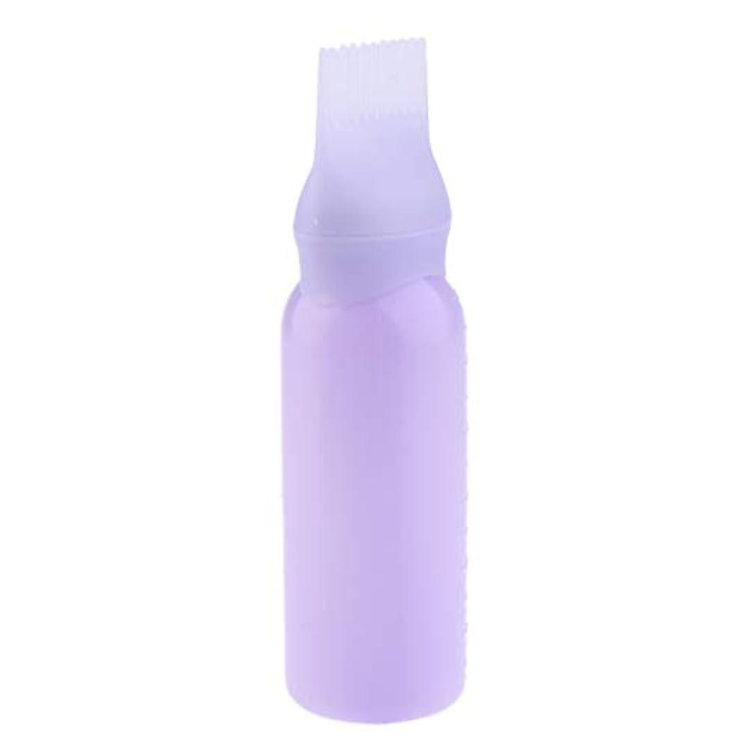 コンプライアンス祭司案件ヘアダイボトル ヘアカラー ヘア染色 ディスペンサー アプリケーター 3色選べ - 紫