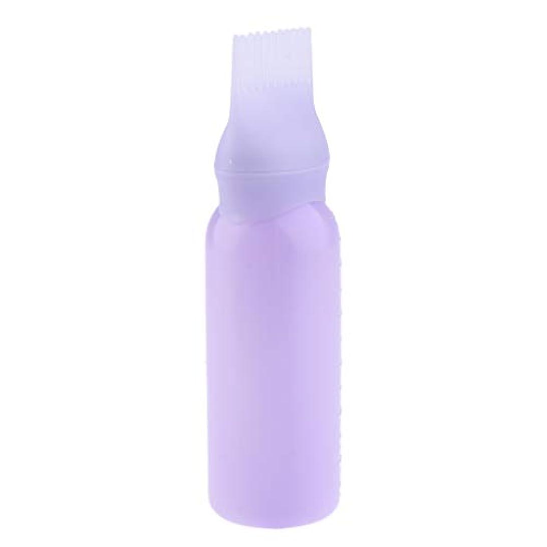 レスリング爆発するリラックスしたヘアダイボトル ヘアカラー ヘア染色 ディスペンサー アプリケーター 3色選べ - 紫