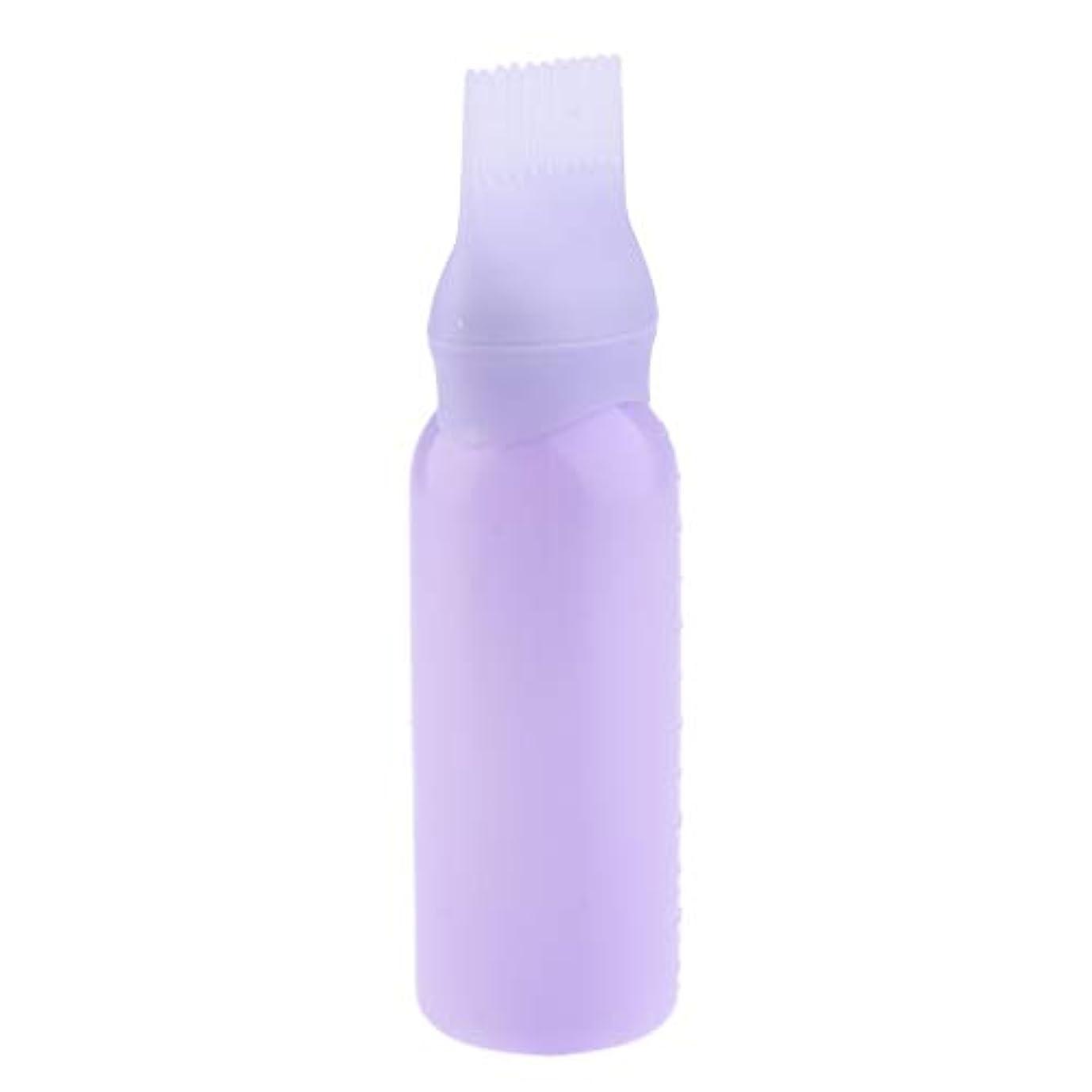 難しい練る怠惰ヘアダイボトル ヘアカラー ヘア染色 ディスペンサー アプリケーター 3色選べ - 紫