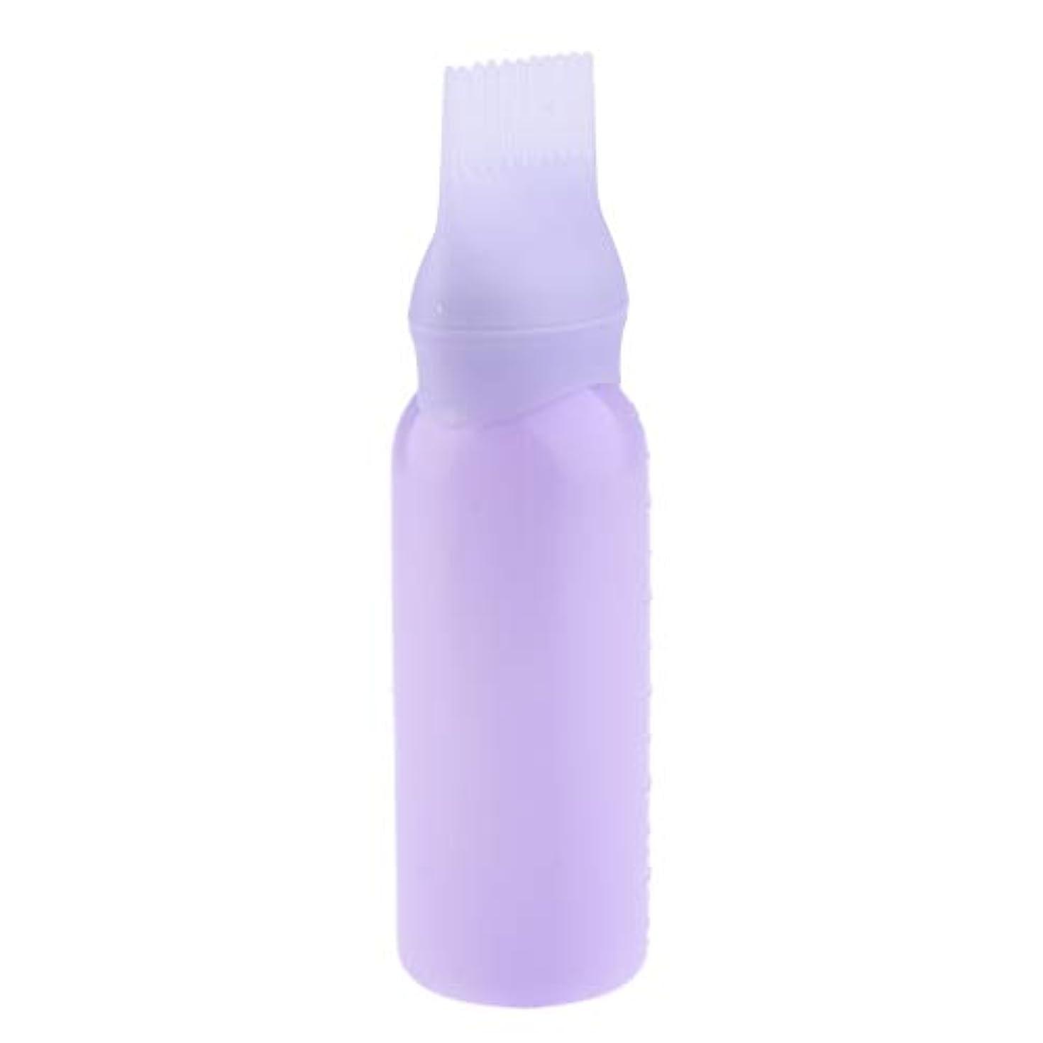ノイズ建築家縞模様のヘアダイボトル ヘアカラー ヘア染色 ディスペンサー アプリケーター 3色選べ - 紫
